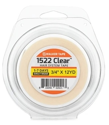 Walker Tape 1522 Clear 3/4 X 12 Yrd Hair System Tape