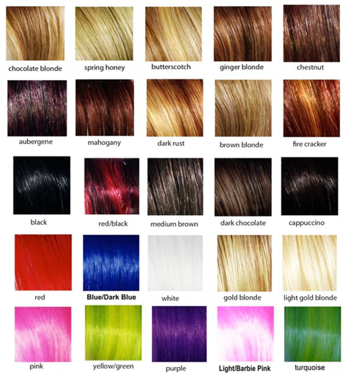 Crisace Hair Extension Color Selection